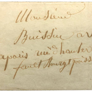 Lettre ancienne collection